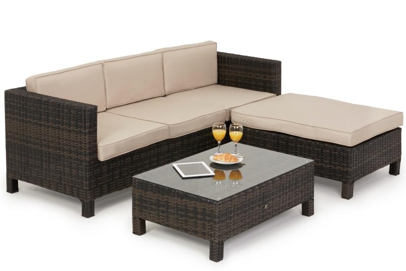 Maze Rattan L.A Casual Corner Sofa Dining Set
