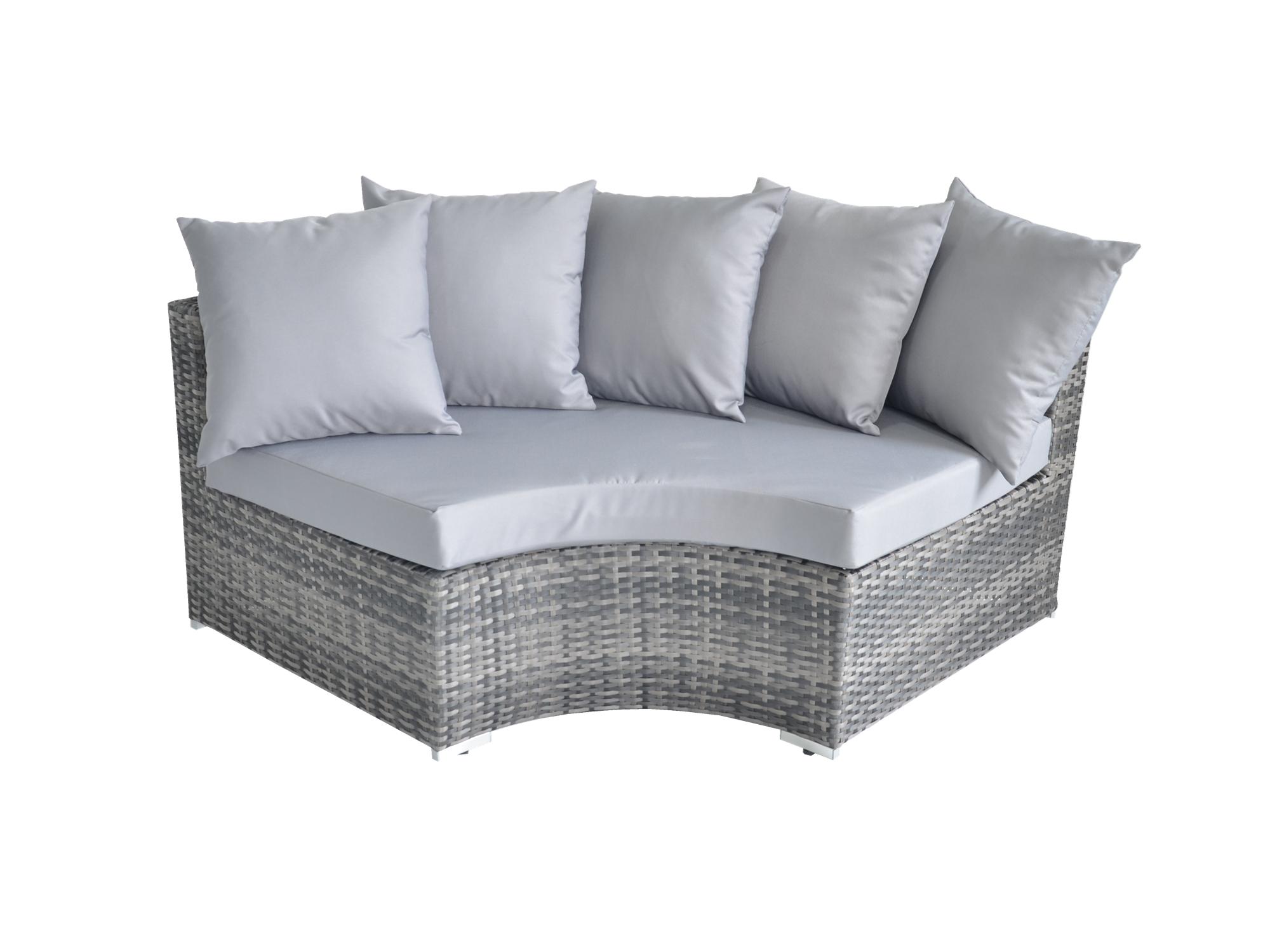 Rattan Fairy Valencia 5 PieceDeluxe Garden Furniture Set With Grey colour cushions