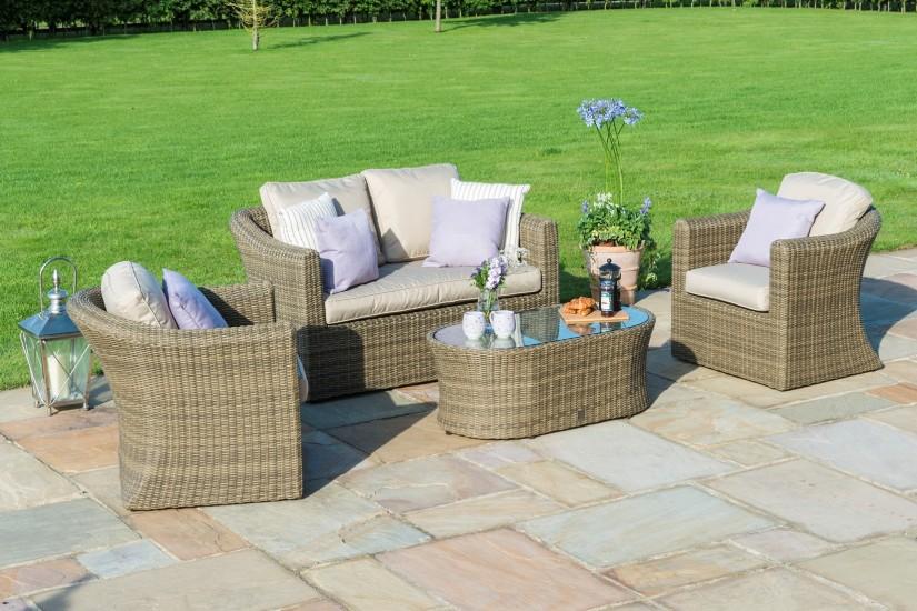 Maze Rattan Winchester 2 Seat Garden Sofa Set