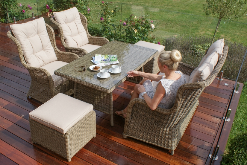Maze Rattan Winchester High Back Outdoor Sofa Set