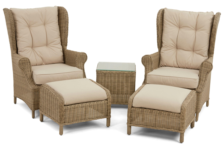 Maze Rattan Winchester High Back Lounge Set