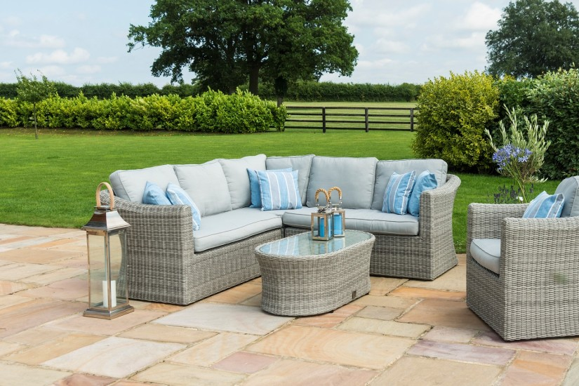 Maze Rattan Oxford Small Corner Sofa Set