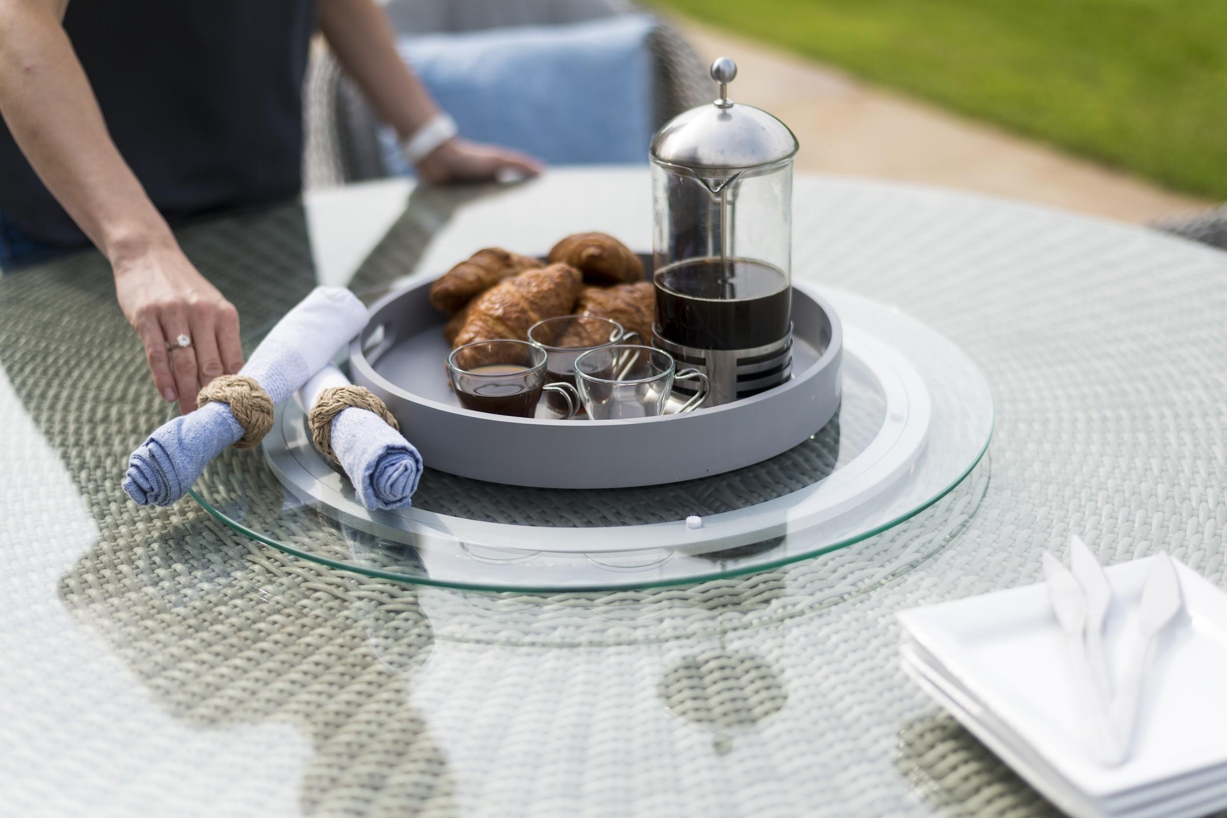 Maze Rattan Oxford 6 seat Oval Garden Furniture set With Ice Bucket