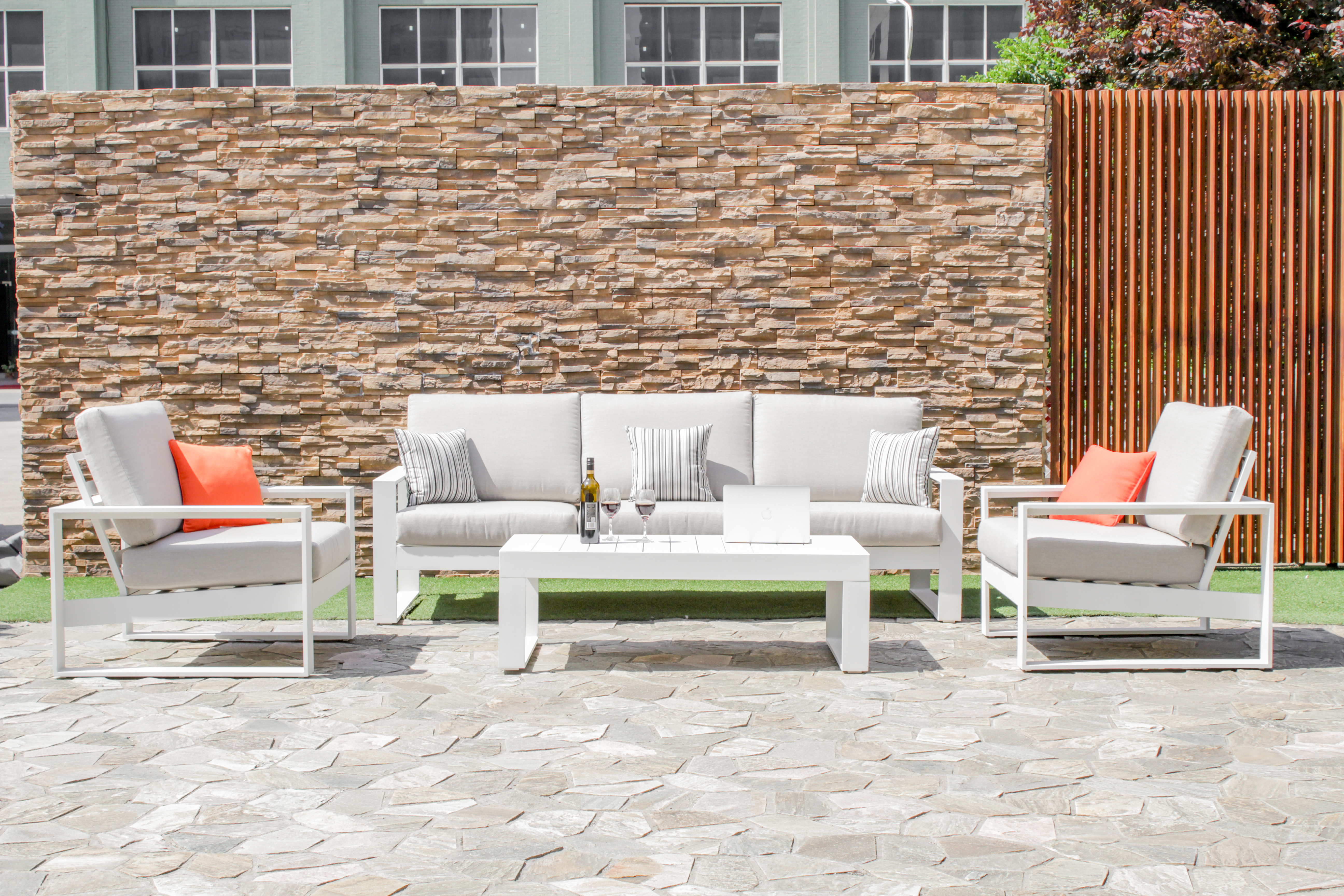 Maze Rattan Amalfi 3 seat Garden Furniture Set