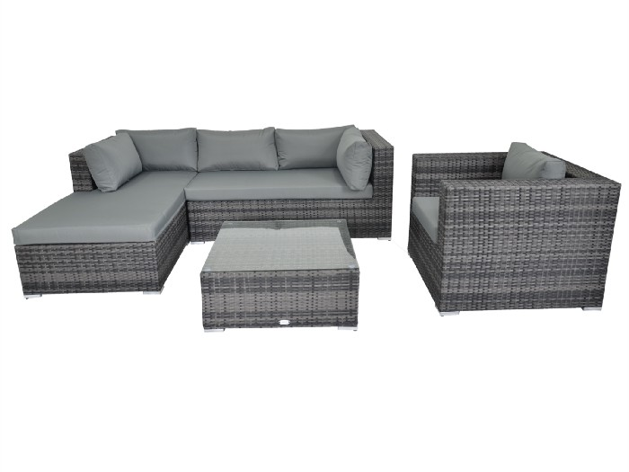Rattan Furnriture Fairy — Cannes Deluxe Sofa Set With Armchair