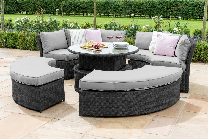 Rattan Furniture Daybeds — Maze Rattan Chelsea Lifestyle Suite Corner Sofa Dining set