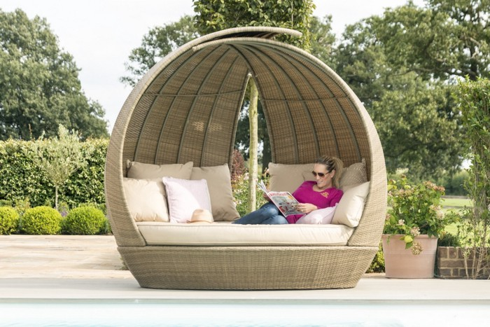 Garden Furniture Sets — Maze Rattan Lotus Daybed