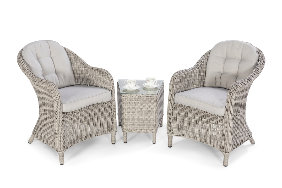 Maze Oxford 3 piece lounge set white out
