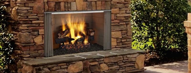 Add an outdoor fireplace